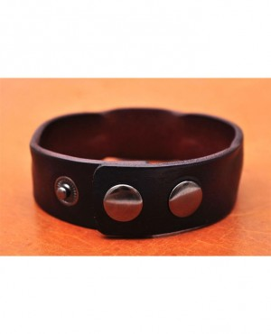 Handmade Distressed Genuine Leather Bracelet Cuff Wristband Brown Men