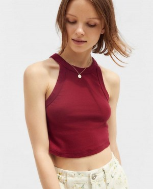 High Neck Cropped Tank Top