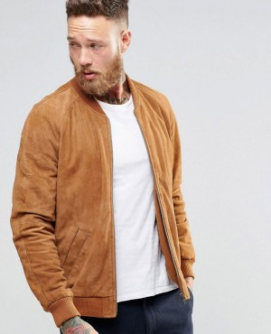High Quality Suede Bomber Jacket