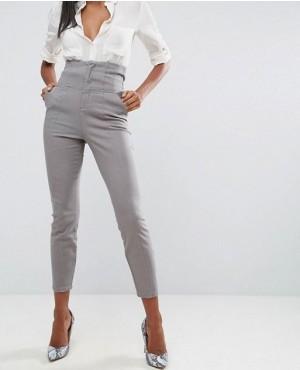 High Waist Corset Detail Custom Trousers