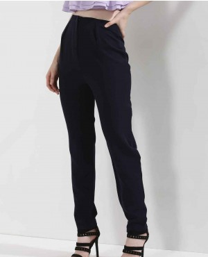 High Waist Pleat Front Trousers