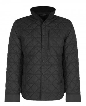 Hold Quilted Over Padded Puffer Jacket Black