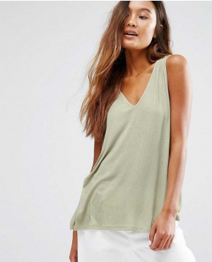 Honey Punch V Neck Loose Fit Tank Top