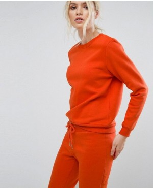 Hot Selling Sweatshirt In Burnt Orange
