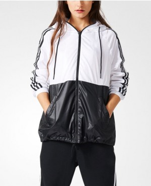 Hot Selling Women Black Windbreaker Jacket