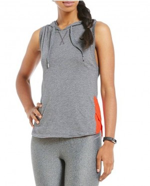 Hot Selling Women Fitness Mesh Sleeveless Hoodie
