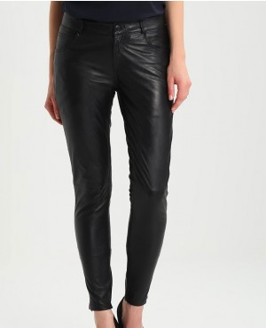 Hot Sexy Custom Made Leather Trousers Black