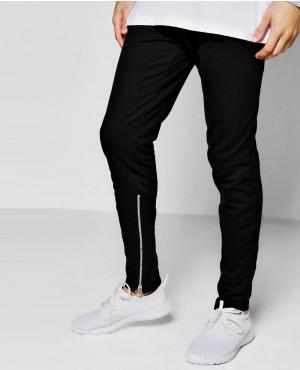 Inner Leg Zipper Detail Joggers