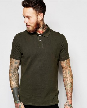 Extreme Muscle Polo Shirt In Lightweight Rib