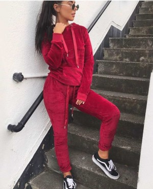Joggers Set Velvet Active Wear Women Tracksuit