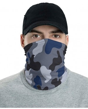 Jungle Blue & Black Camo Neck Gaiter Washable and Reuseable Face Mask