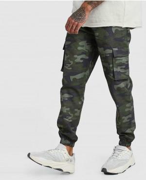 Khaki Camo Cargo Trouser