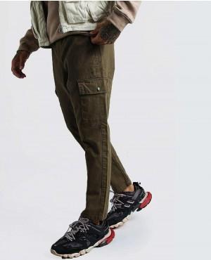 Khaki Twill Cargo Trouser