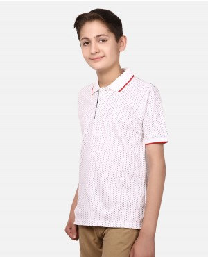 Kids Custom Perforated Poloshirts With Side Slits