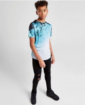 Kids Custom Sublimation Curved Hem T Shirts