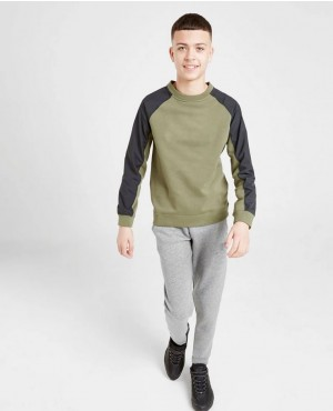 Kids Fashion Streetwear Clothing Crew Neck Long Raglan Sleeve Sweatshirt