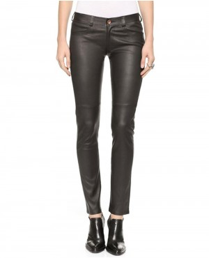 Ladies Black Leather Pant