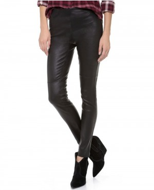 Ladies High Waisted Leather Pant