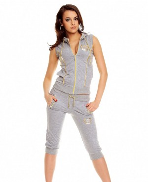 Ladies Hot and Sexy Zipper Sweatsuit