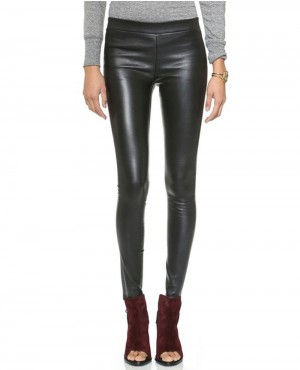 Ladies Skinny Leather Pant