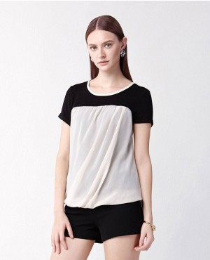Ladies Two Tone Stylish T-Shirt