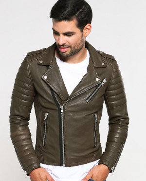 Leather Jacket High Quality Zips Most Selling Biker Leather Jacket