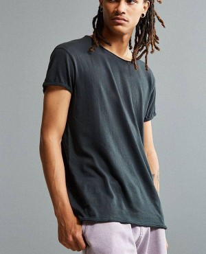 Light Weight Wholesale Raw Hem T Shirt With Low MOQ