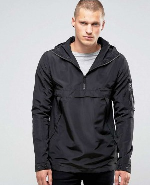 Lightweight Half Zipper Overhead Jacket