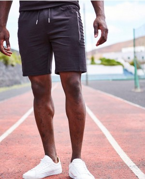 Lightweight Jersey Shorts With Sports Zips