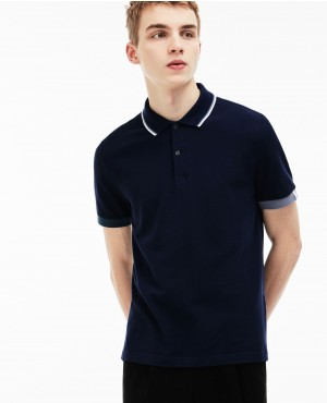 Live Slim Fit Piped Neck Petit Pique Polo