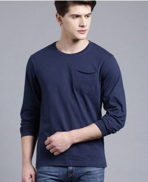 Long Saleeves T Shirts With Front Pocket