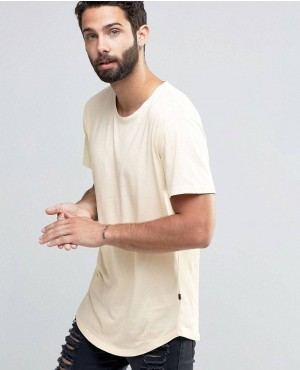 Longline T-shirt with Crew Neck