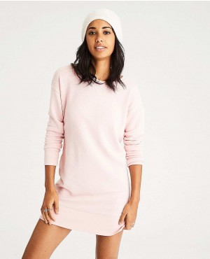 Longline Women Dress Crewneck