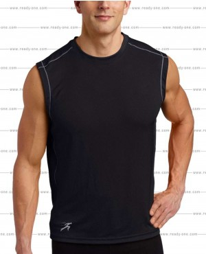 Men All Black Stylish Tank Top