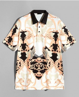 Men All Over Print Polo Shirt