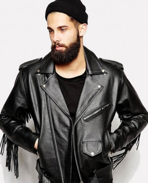 Men Bikers Fashion Clothing Man Leather Jacket