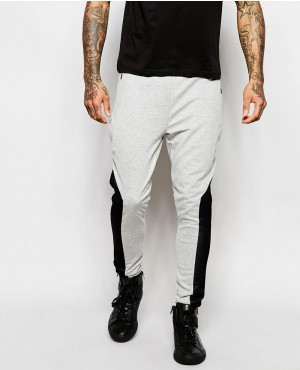 Men Black and Grey Stylish Jogger Pant