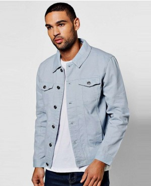 Men Blue 4 Pocket Denim Jacket