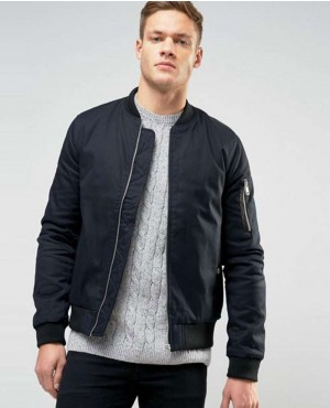 Men Bomber Jacket In Navy