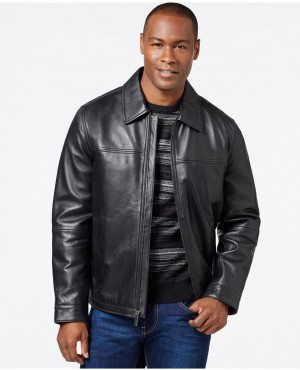 Men Brando Real Leather Jacket with Collar