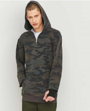 Men Camouflage Style Zipper Hoodie