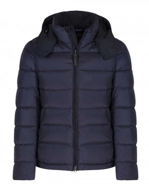 Men Citywear Short Padded Quilted Jacket Blue Navy