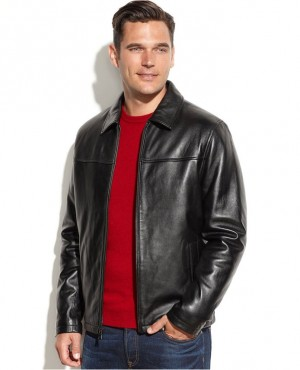 Men Classical Leather Jacket