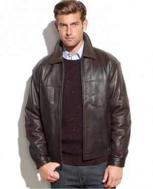 Men Collar Leather Jacket