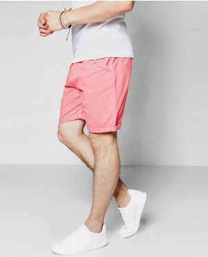 Men Coral Plain Chino Short