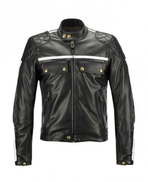 Men Custom Color Leather Biker Jacket