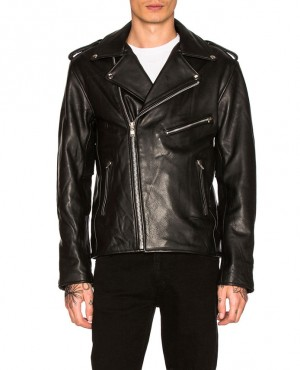 Men Custom New Leather Jacket