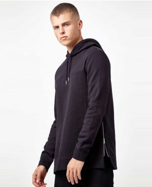 Men Custom Side Zipper Hoodies