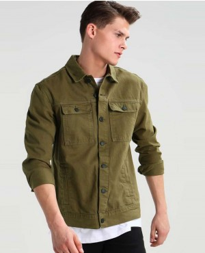 Men Denim jacket khaki