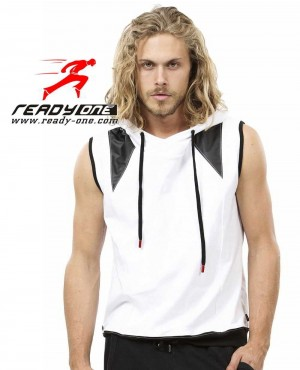 Men Fashionable Five Star Sleeveless Hoodie